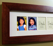 School picture frame detail
